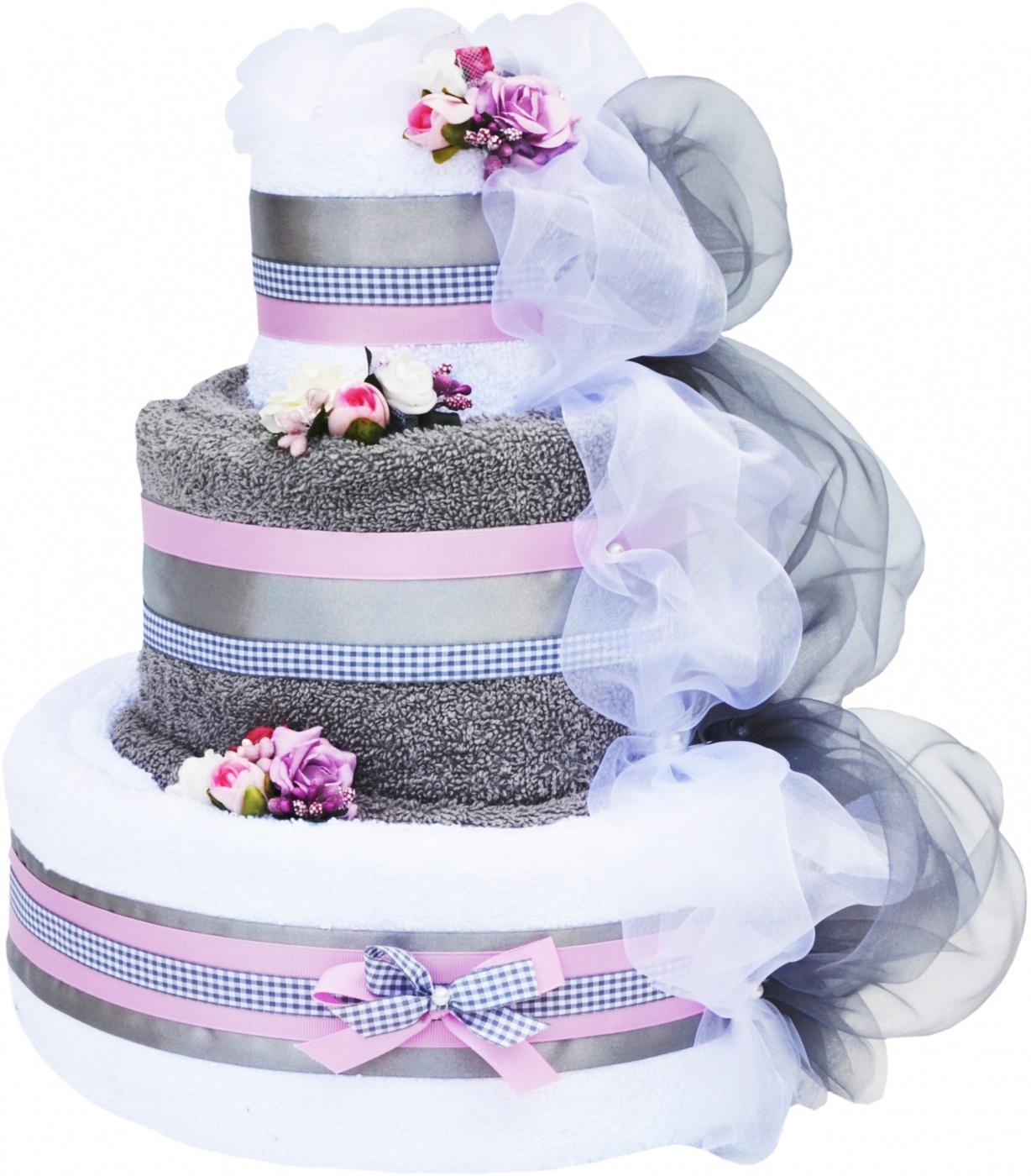 Niesamowite Duży tort 6 dużych ręczników - elegancki prezent na rocznicę ślubu UD12